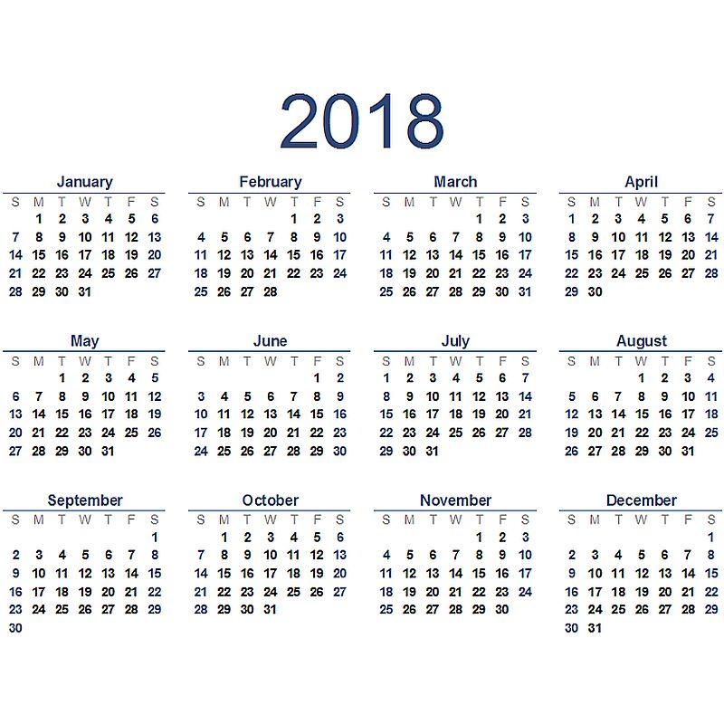 2018 det nya året