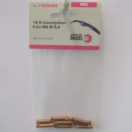 Kontaktmunstycke M6 för 0,6-tråd