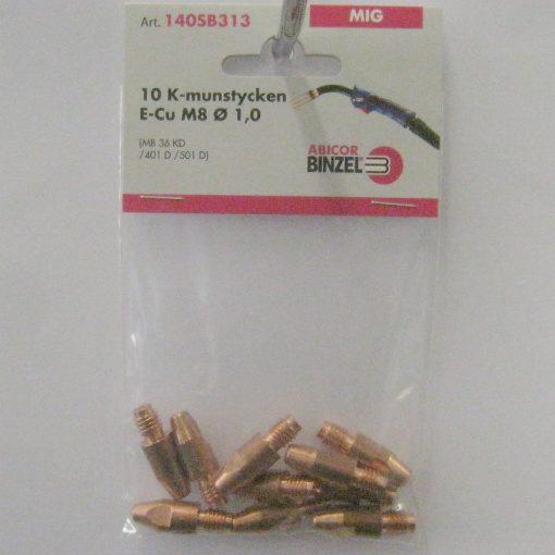 Kontaktmunstycke M8 för 1,0-tråd